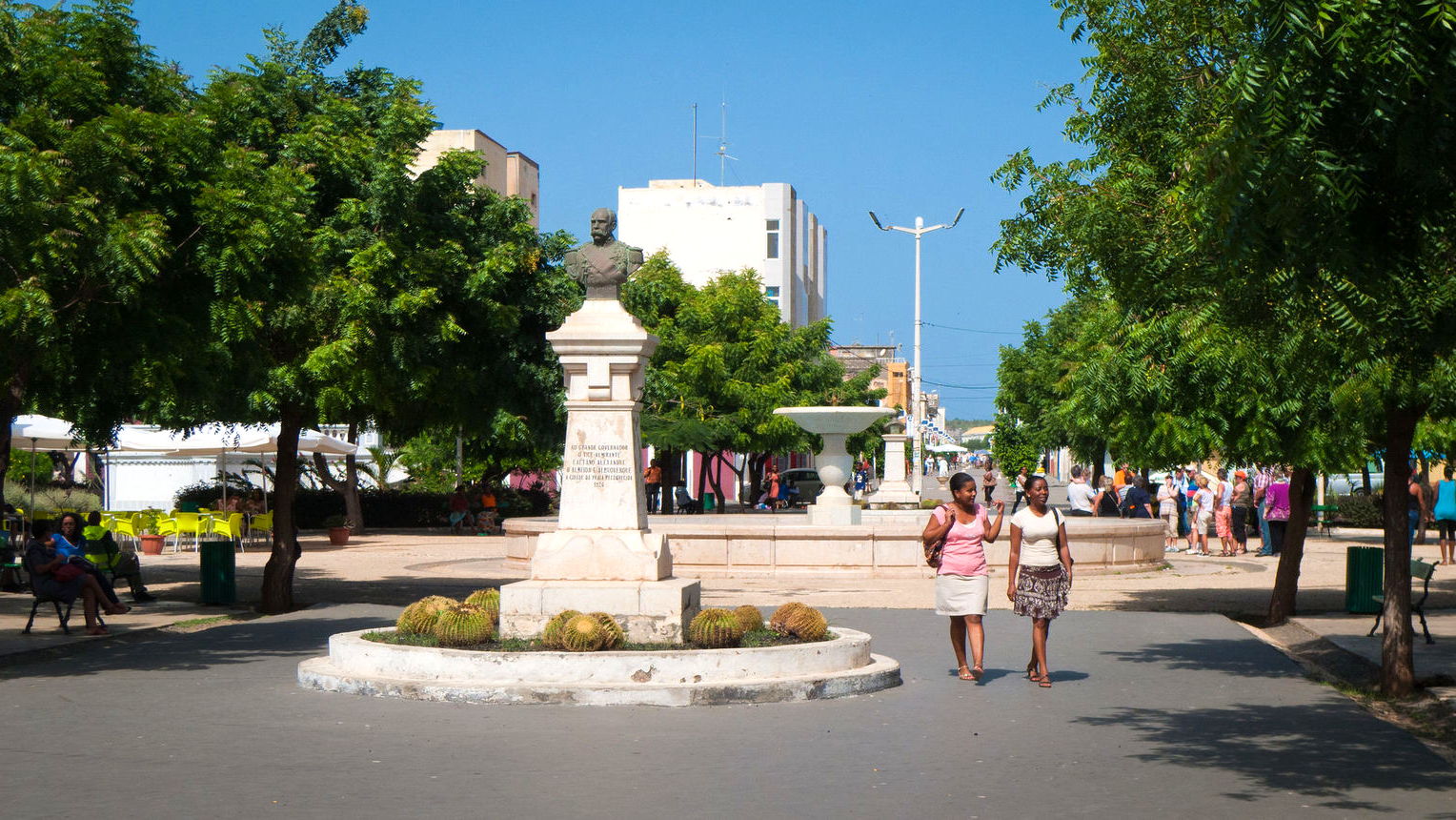 Het centrum van Praia