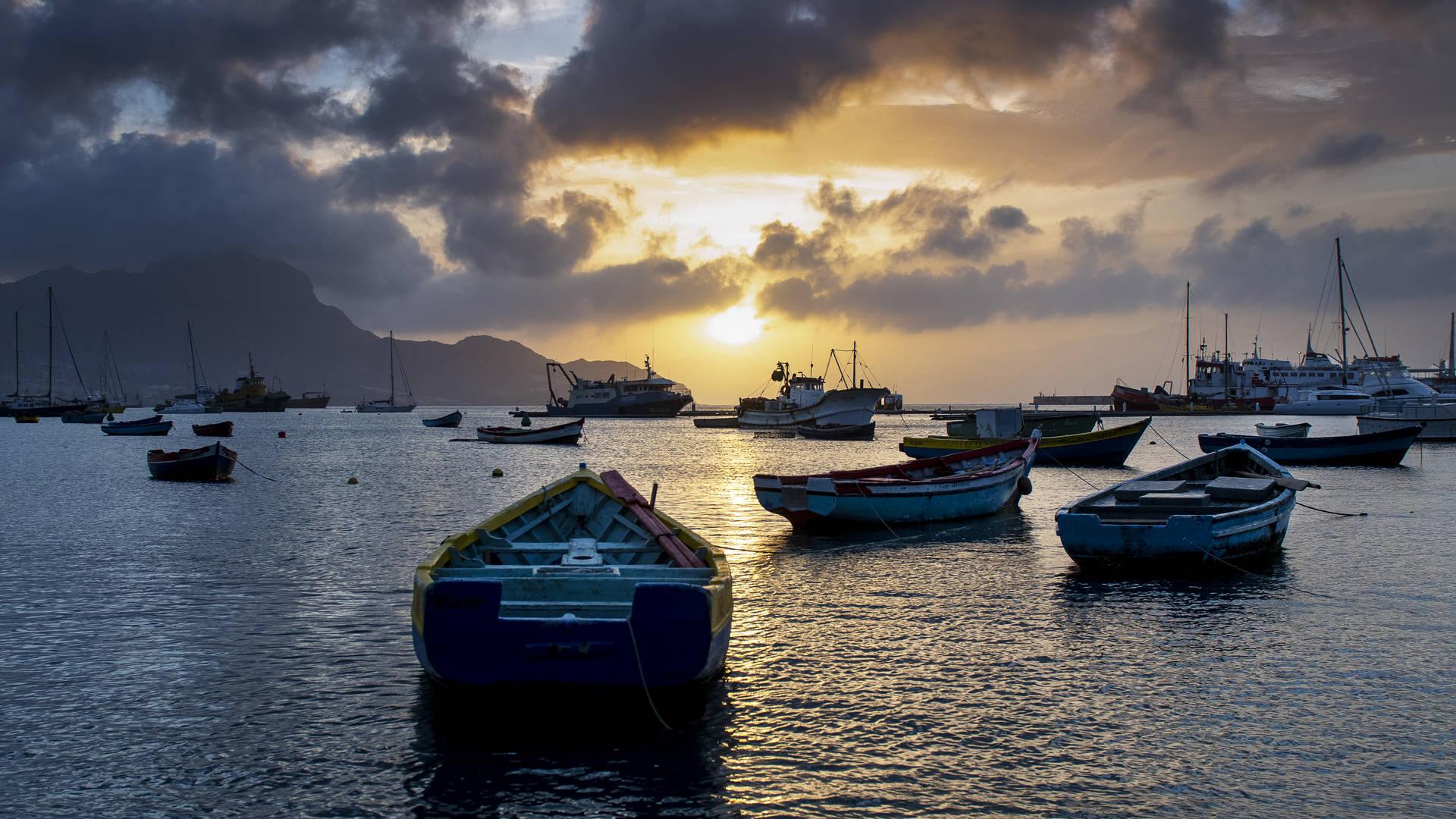 De haven van Sao Vicente