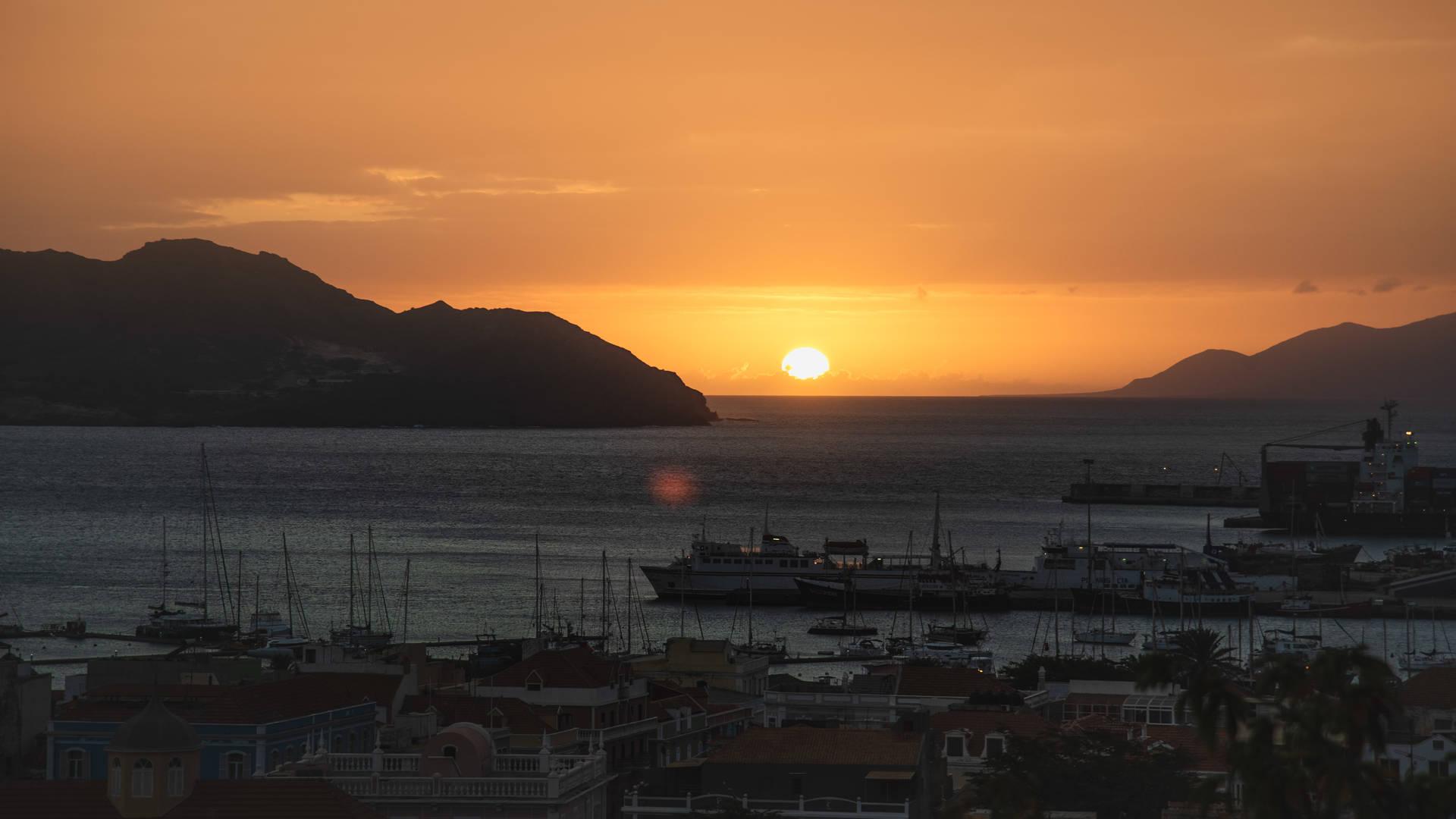 zonsondergang mindelo
