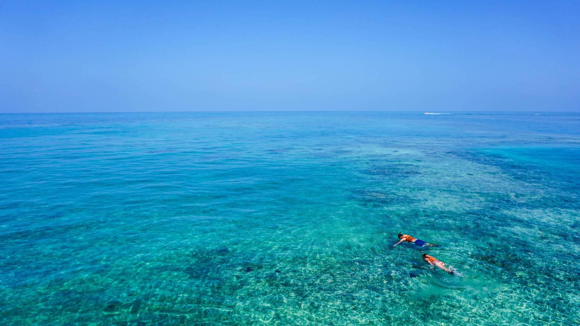 snorkelen in kristalhelder water - snorkelen in kaapverdië