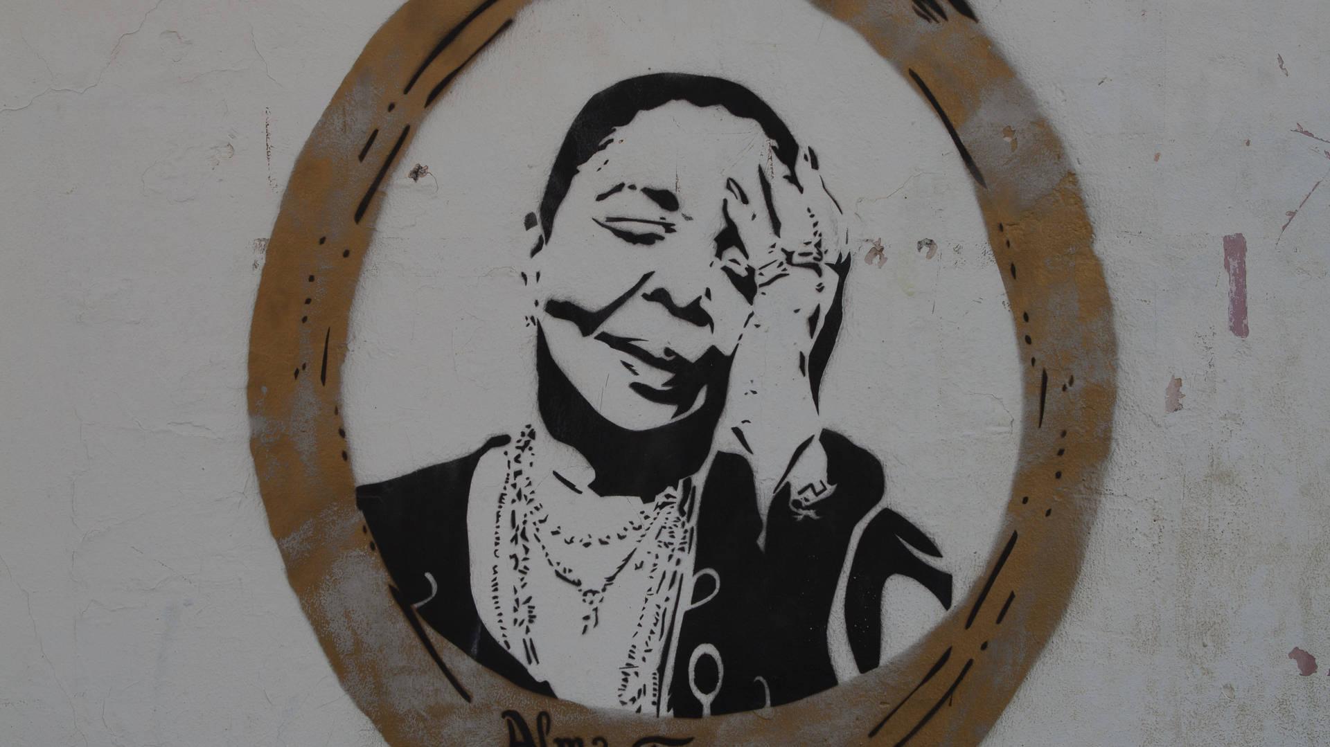 Cesaria Evora - koningin van de Morna - muurschildering