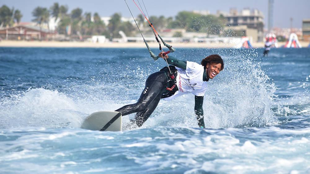 kitesurf wedstrijd - Kitesurfen in Kaapverdie